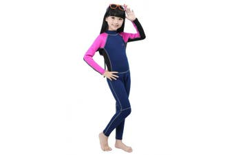 (M/4 (FOR height 110cm  - 120cm ), Red-2MM-Long) - Neoprene Wetsuit for Kids Boys Girls One Piece Swimsuit