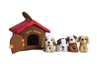 (Puppy Dog House) - Puppy Dog House Carrier With 4 Barking Puppies Playset