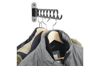 Clothes Hangers Holder - Wall Mount - Great for Baby, Kids, Men & Women Clothing - Perfect for Laundry, Cleaning and Organising Your Wardrobe