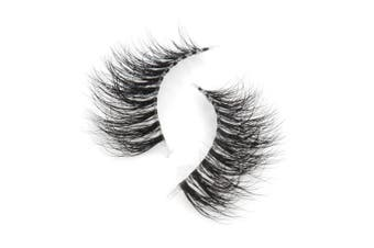 (T3D010) - Arison Lashes 3D Mink Fur Fake Eye Lash Invisible Transparent Band False Eyelashes 100% Siberian Mink Pure Hand-made Natural Look for Makeup (1 pair package) (T3D010)