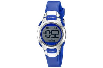 (Blue/Silver) - Armitron Sport Women's 45/7012 Digital Chronograph Resin Strap Watch