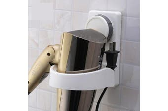 theBathMart Rotating Wall Mounted Lock Suction Cup Hair Dryer Holder