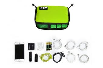 (Green) - BAGSMART Design Slim Travel Cable Organiser Bags Electronic Accessories Case Handy USB Drive Shuttle Green