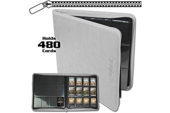 BCW Z-Folio LX Zipper Portfolio White 12 Pocket Playset Album by BCW
