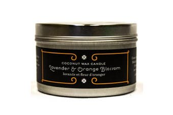 Pure Plant Home 442 Med Silver Tin Lavender/Orange Blossom Coconut Wax Med Silver Tin Lavender/Orange Blossom