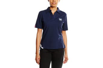 (Size 12 - 14, Navy) - 3 for a Girl Women's Scottish Rugby Polo T-Shirt