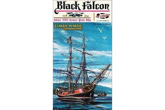 Black Falcon Pirate Ship Classic 1:100 Scale Plastic Model Kit by Atlantis Toy and Hobby