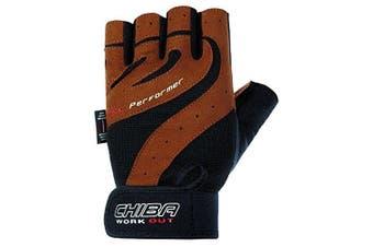 (Small, Brown) - Chiba Gel Performer Training Glove