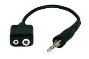 Alinco EDS10 - Microphone Adapter Cable (Twin Jack to 4 pole)
