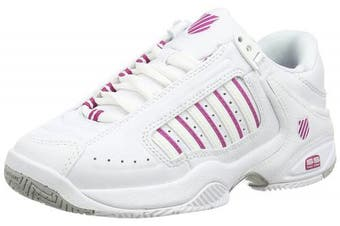 (8 UK, White (White/Veryberry 127)) - K-Swiss Performance Defier Rs, Women's Tennis Shoes