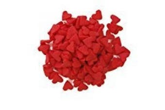 Valentine Jumbo Red Heart Shapes Edible Sprinkles for Cakes and Cupcakes/Food Decoration 180ml