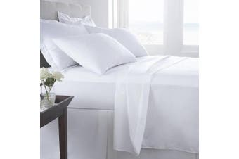 (Queen, White) - Luxury Home Super-Soft 1600 Series Double-Brushed 6 Pcs Bed Sheets Set (Queen, White)
