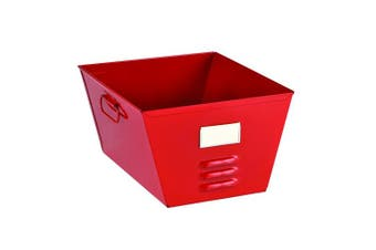 (Red) - STEELMASTER Storage Tub with Locker Design, 7.5 x 32cm x 29cm , Red (20610007)