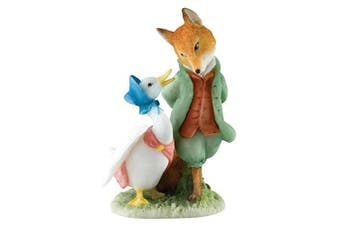 Beatrix Potter Miniature Figurine - Jemima & The Foxy-Whiskered Gentleman (A27676) by Enesco