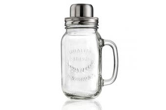 (Cocktail Shaker) - Artland Masonware 650ml Cocktail Shaker, Glass, Small