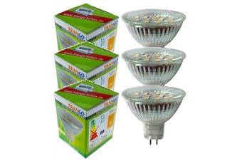 (9.0 Watts) - Trango Set of 3 LED Bulb with MR16 Socket 3TGMR16030 for Replacement Halogen Bulb MR16 I GU5.3 I G4 12 Volt 3000K Warm White Bulb, Reflector Bulb, LED Bulbs