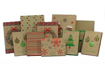 Foil Kraft Gift Boxes Christmas Value Pack