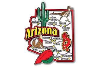 (Arizona) - Arizona State Jumbo Map Magnet