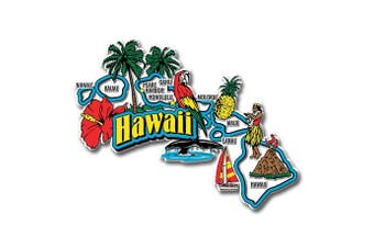 (Hawaii) - Hawaii State Jumbo Map Magnet