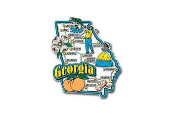 (Georgia) - Georgia State Jumbo Map Magnet