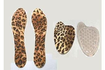 (High Heel Insert) - High Heel Insoles Inserts Ball Of Foot Cushions Women Leopard Print