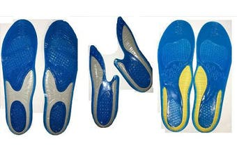 (Comfort Arch Full Length UK 8 - UK 12) - Massaging Insoles Gel Sports Performance Insoles Variations Arch Support