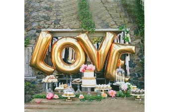 B-G 70cm Love Balloon Set Bridal Shower Party Birthday Vow Renewal Wedding Decoration (Golden) H011A