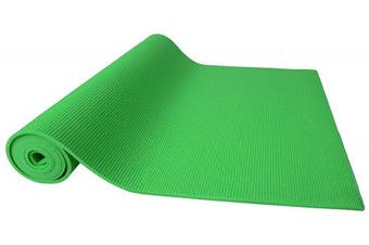 (0.6cm , Green) - BalanceFrom GoYoga All Purpose High Density Non-Slip Exercise Yoga Mat with Carrying Strap