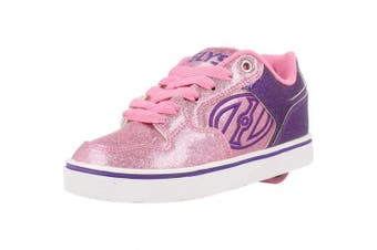 (UK 4 / EU 36.5, Pink) - Heelys Motion Plus Shoes - Purple/Pink Glitter