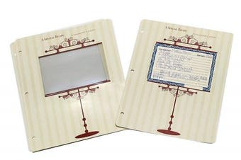 Meadowsweet Kitchens Archival 4 x 6 Recipe Card Pages for 3 Ring Binders