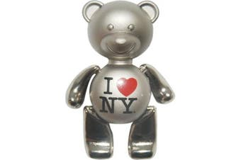 (Metal) - I Love New York Teddy Bear Magnets in Many Colours (Metal)
