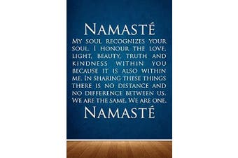 Wall Decal Sticker Bedroom Namaste quote yoga greeting namaskar hindu culture 070b