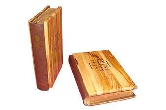 (English Version) - Olive Wood Bible La Santa Biblia Red-letter King James Version Old and New Testament by Bethlehem Gifts TM (English Version)