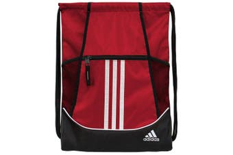 (46cm  x 35cm , Power Red/Black/White) - adidas Alliance II Sackpack
