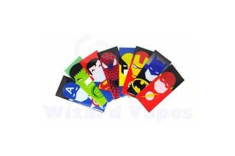 (Set of 8 Heroes) - 18650 Battery Sleeve/Wrap Heat Shrinkable PVC - Super Heroes (Set of 8 Heroes)
