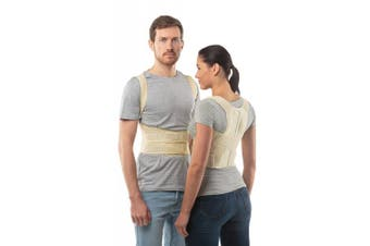 """(Skin, 1: 68-78 CM; 27-31"""") - Posture Corrector Back Support Belt by aHeal-Medical Orthopaedic Under Clothes Back Brace Spine Corrector for Men and Women-Lower Pectoral and the Lumbar Spine Stress Relief - Size 1: 68-78 CM; 27-31""""-Skin"""