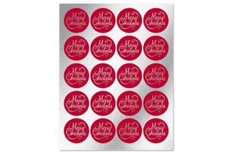 Foil Merry Christmas Sticker Seals - Set of 40
