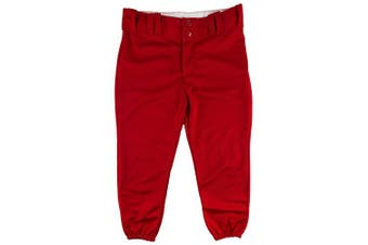 (X-Small, Scarlet) - Alleson Ahtletic Women's Fastpitch/Softball Belt Loop Pant