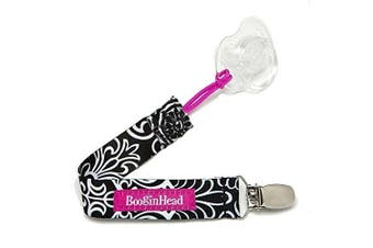 Booginhead PaciGrip Pacifier Holder, Black Flourish by BooginHead