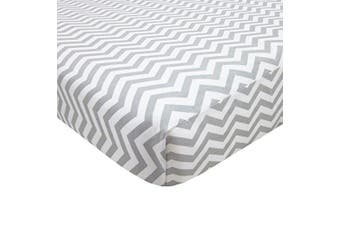 American Baby Company 100% Cotton Percale Fitted Portable/Mini Crib Sheet, Zigzag Grey by American Baby Company