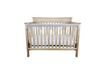 (Narrow Front Rail - 1 pc., Gray) - Trend Lab Waterproof CribWrap Rail Cover - for Narrow Long Crib Rails Made to Fit Rails up to 20cm Around