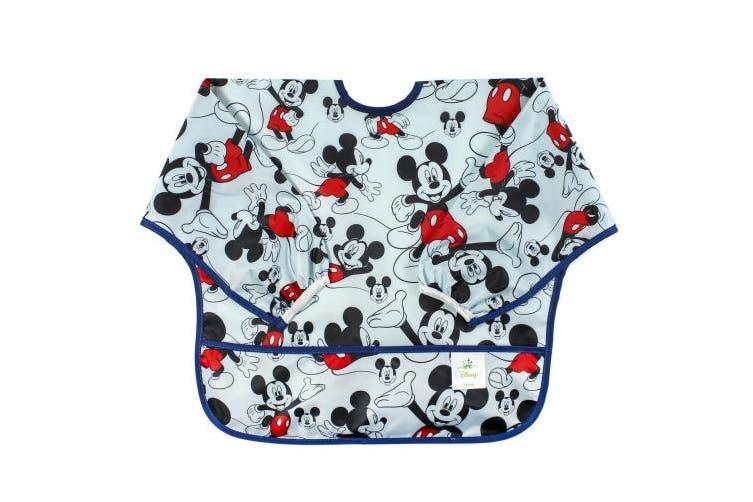 Bumkins Disney Baby Waterproof Sleeved Bib, Mickey Mouse Classic .