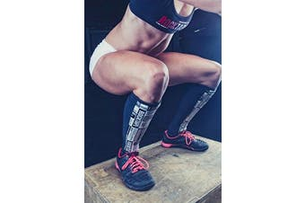 (Medium, Manifesto) - RockTape Rock Guards Shin Guards, Unisex, RockGuards Schienbeinschoner