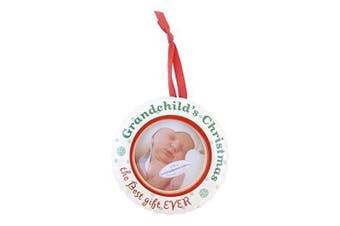 The Grandparent Gift Ceramic Photo Ornament, Grandchild's Christmas by The Grandparent Gift Co.