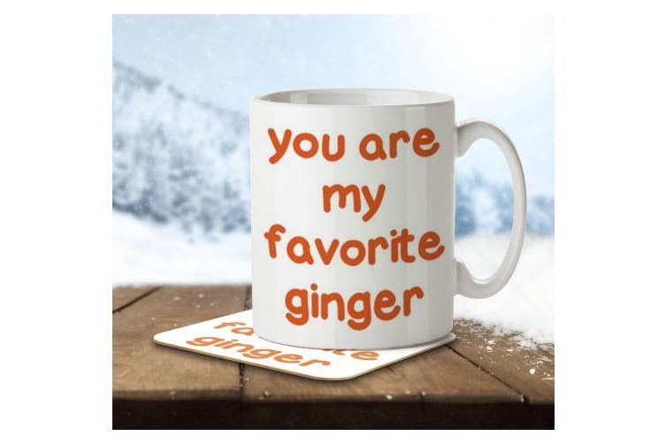 You Are My Favourite Ginger - Mug and Coaster By Inky Penguin