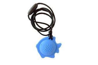 Chewable Fish Pendant-sky blue
