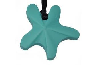 chubuddy Chewable Star Fish Pendant chewie, non-toxic material-aqua