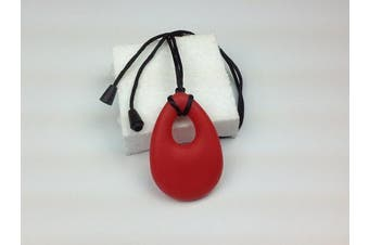 Chewable Oval Pendant - Buddy Buds Red Hot