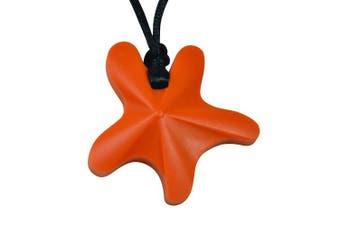 chubuddy Chewable Star Fish Pendant chewie, non-toxic material-orange