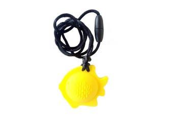 chubuddy Chewable Fish Pendant chewie, non-toxic material-lemon